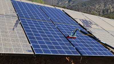 Solar Panel Cleaning at Thacher School in Ojai, CA